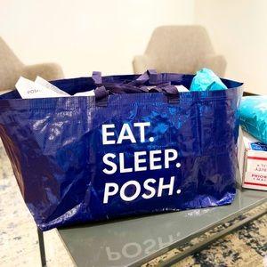 NEW eat sleep posh oversized IKEA tote